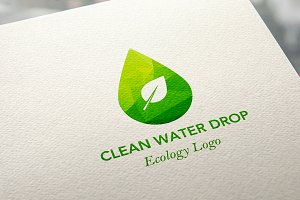 Ecology Water Drop Logo