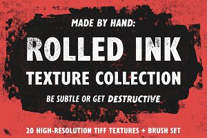 Rolled Ink Texture Collection