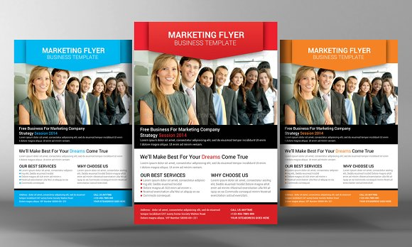Marketing Flyer Template Flyer Templates on Creative Market – Template for a Flyer