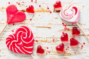 Valentine's day concept - sweets heart shaped