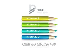 Vector pencil premium ad product template