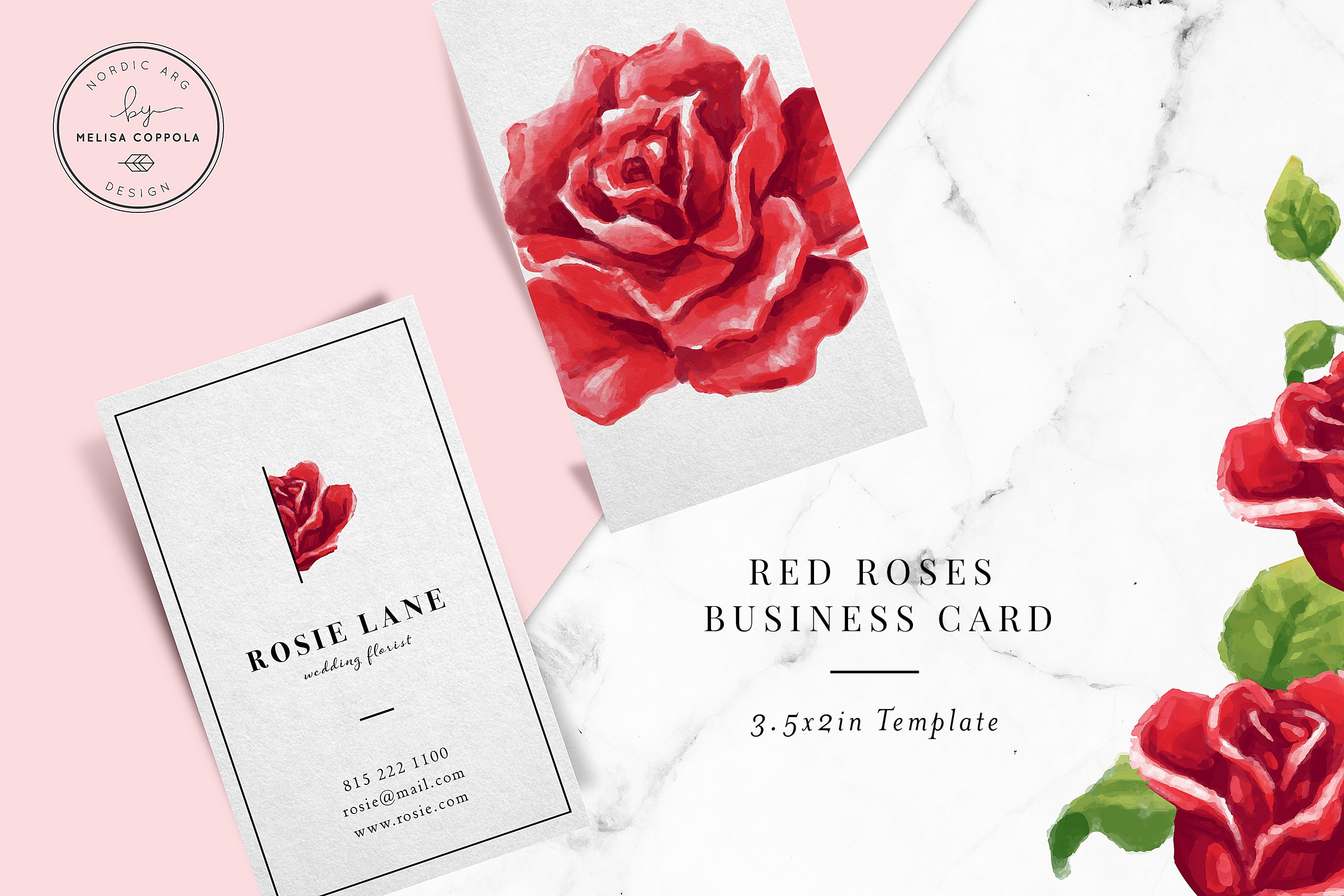 red roses business card template business card templates