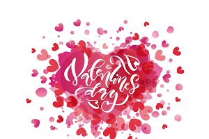 Happy Valentine's Days Watercolor