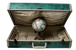 Travel globe and Suitcase