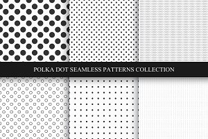 Set of dotted seamless patterns.
