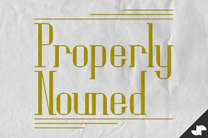 Properly Nouned fancy serif font
