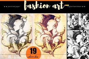 Fashion illustration, graphic art