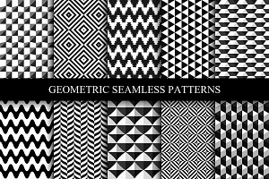 Geometric seamless modern patterns.