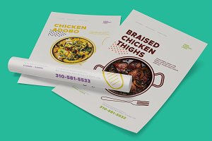 Dishes promo poster templates