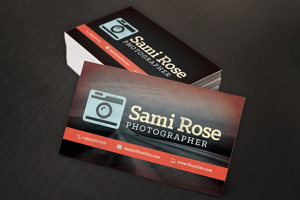 Vintage Photography Business Cards ~ Business Card Templates ...