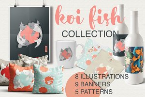 Koi Fish - illustrations & patterns