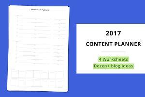 2017 Content Planner