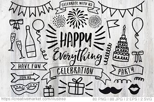 Celebration, party, birthday clipart