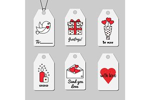 Printable romantic gift tags