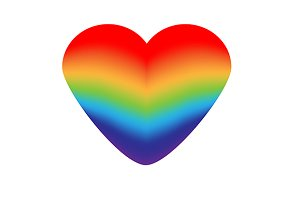 Roainbow heart icon. eps+jpg