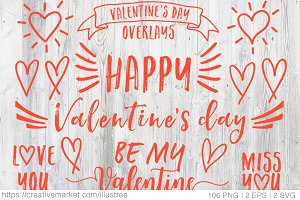 106 Valentine's day vector clip art