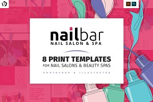 Nail Bar Templates Pack