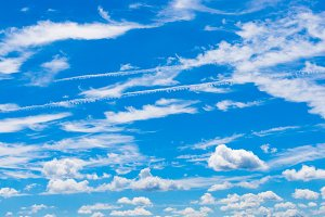 Beautiful white clouds on blue sky