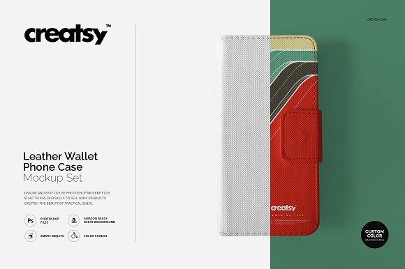 Download Leather Wallet Phone Case Mockup Set