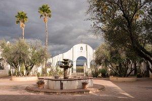 San Xavier del Bac Mission outside Tucson Arizona