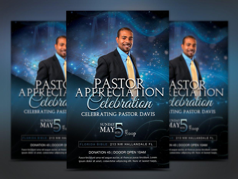 Pastor appreciation church flyer flyer templates creative market starlight pastor anniversary altavistaventures Gallery