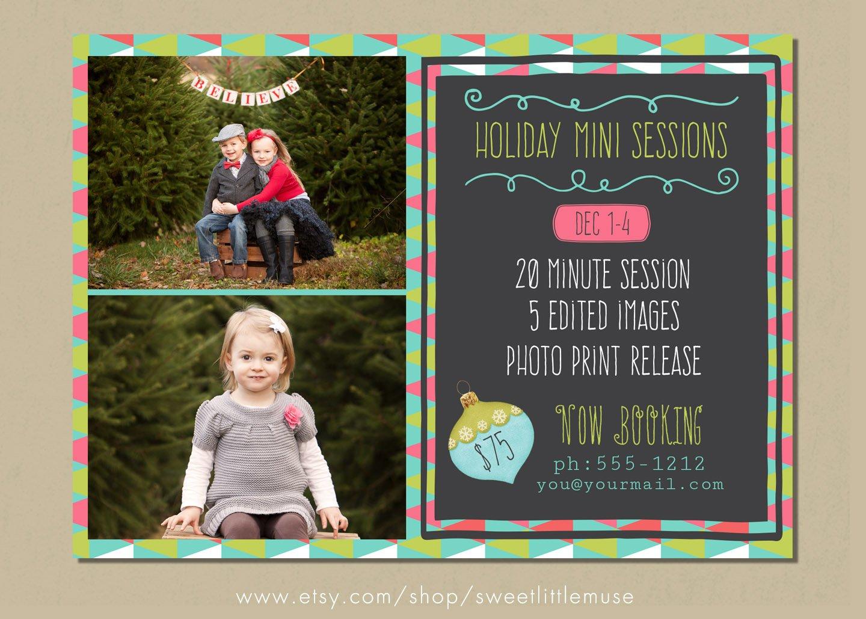 christmas mini session template photos graphics fonts themes holiday mini session template