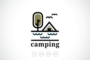 Lake Camp Logo Template