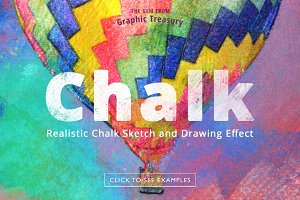 Realistic Chalk Drawing Effect