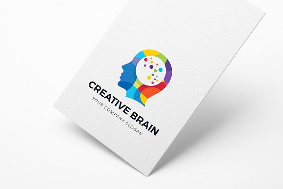 Template - Creative Brain Logo » Designtube - Creative ...