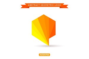 Vector logo design template - modern polygonal shape
