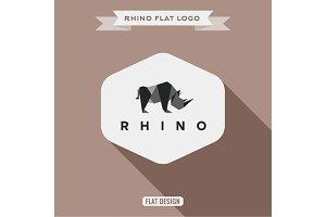 Rhino logo origami polygons illustra