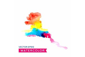 Abstract watercolor splash, vector illustration