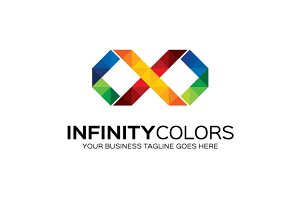 Infinity Colors Logo Template