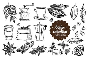 Coffee vintage set