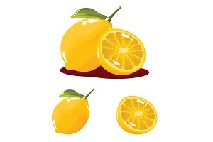 Lemon Fruit Realistic Vector