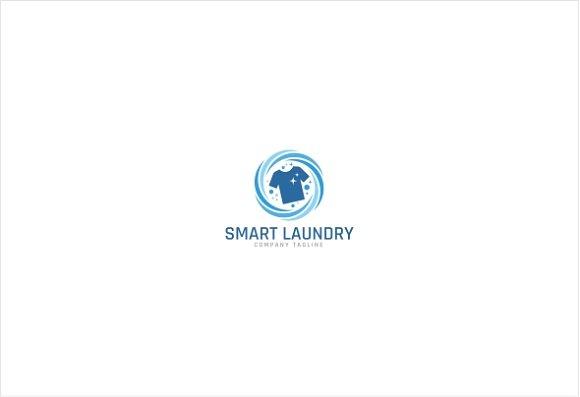 Smart Laundry Service Logo Template