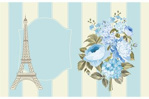Eiffel tower post card.