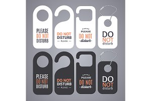 Do Not Disturb Sign Labels
