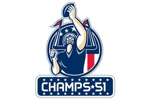 Football Champs 51 New England Retro