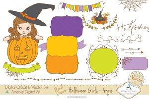Halloween Girl-Angie-Clipart&Vector