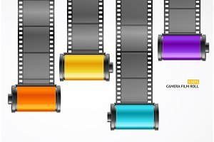 Camera Film Roll Cartrige Set
