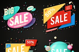 Sale advertising banner