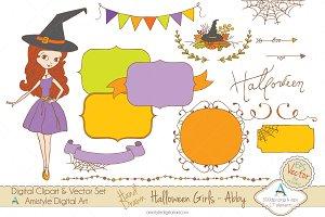 Halloween Girl-Abby-Clipart&Vector