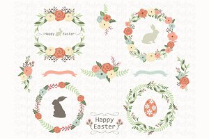 Floral Easter Wreath Collection