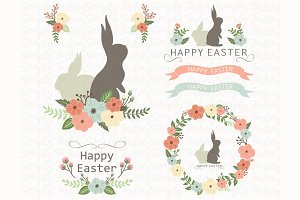Happy Easter Day Elements