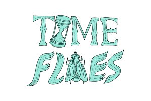 Time Flies Drawing