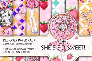 Donuts & Strawberry Patterns