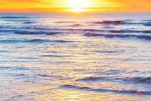 Ocean sunset, vertical