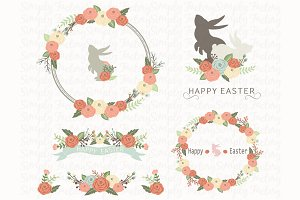 Easter Floral Wreath Collection