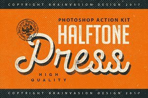 Halftone Press - Photoshop Kit